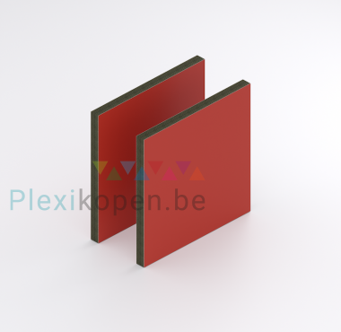 HPL Exterieur Rood 6 mm RAL 3000